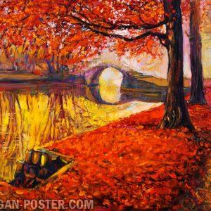 Jual poster gambar pemandangan musim gugur autumn 02