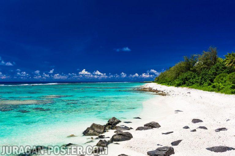 Jual poster gambar pemandangan pantai beach 01