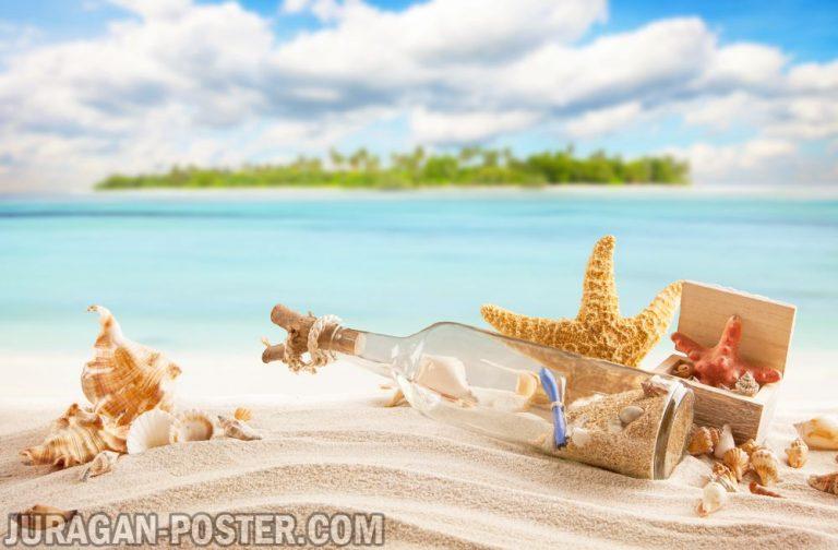 Jual poster gambar pemandangan pantai beach 06