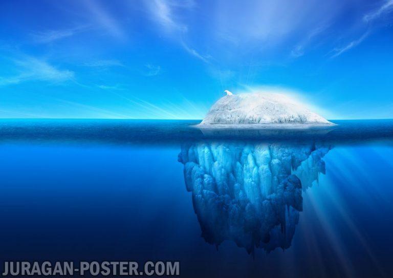 Jual poster pemandangan alam gunung es Iceberg