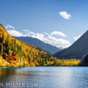 Jual poster gambar pemandangan danau lake 02