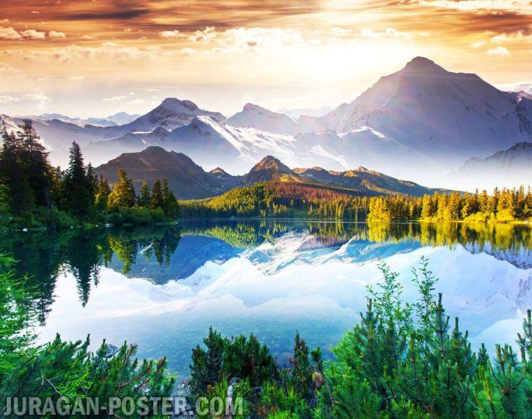 Jual poster gambar pemandangan alam pegunungan mountain 03