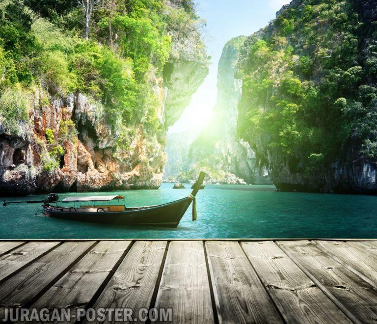 jual poster gambar pemandangan alam laut sea 01