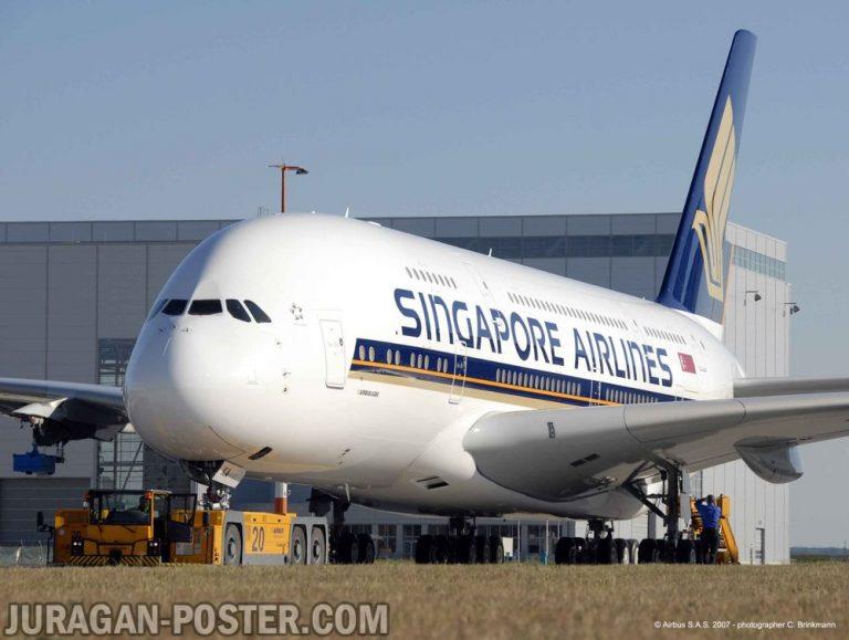 jual poster gambar pesawat terbang untuk travel agent