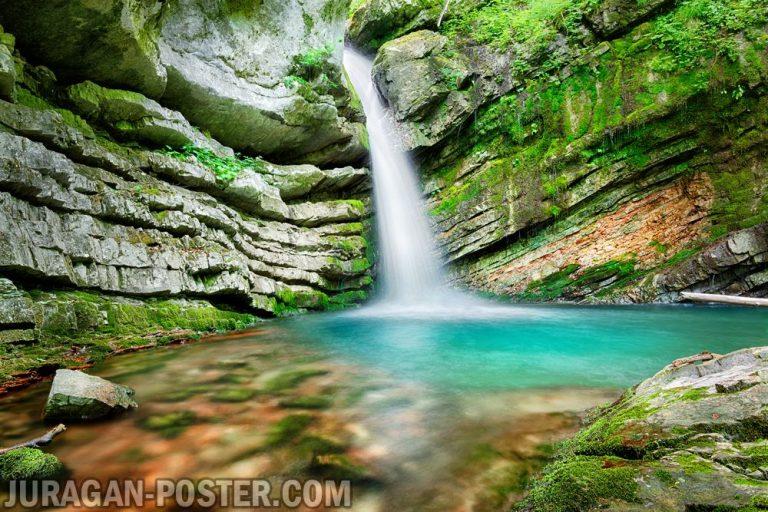 Jual poster gambar pemandangan air terjun waterfall 02