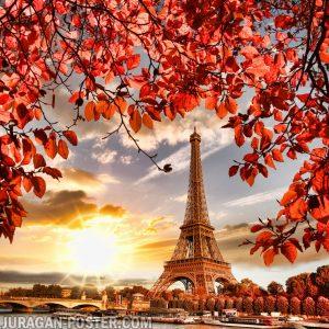 Jual poster Menara Eiffel