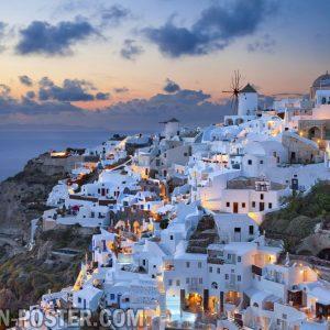 Jual poster Pemandangan Kota Greece Yunani