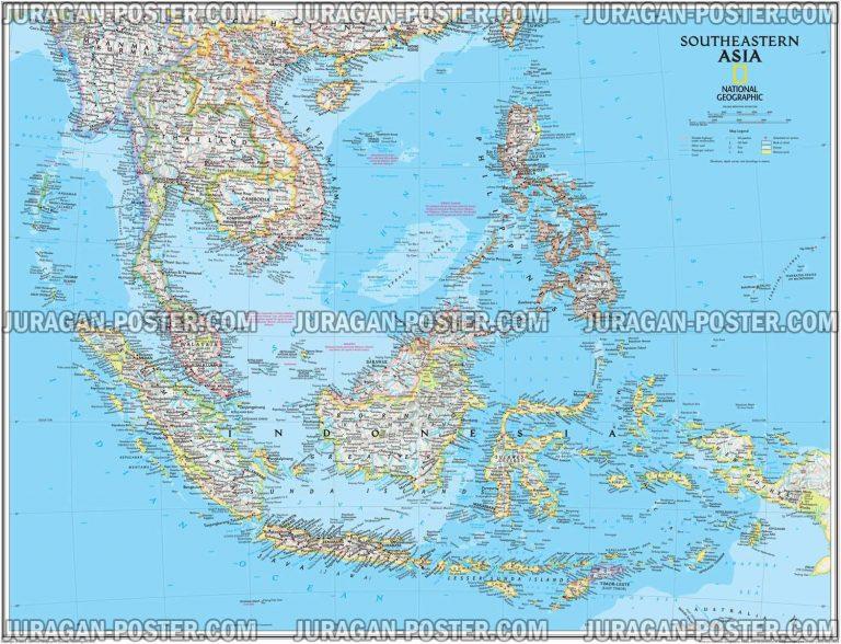 jual peta indonesia dan asia