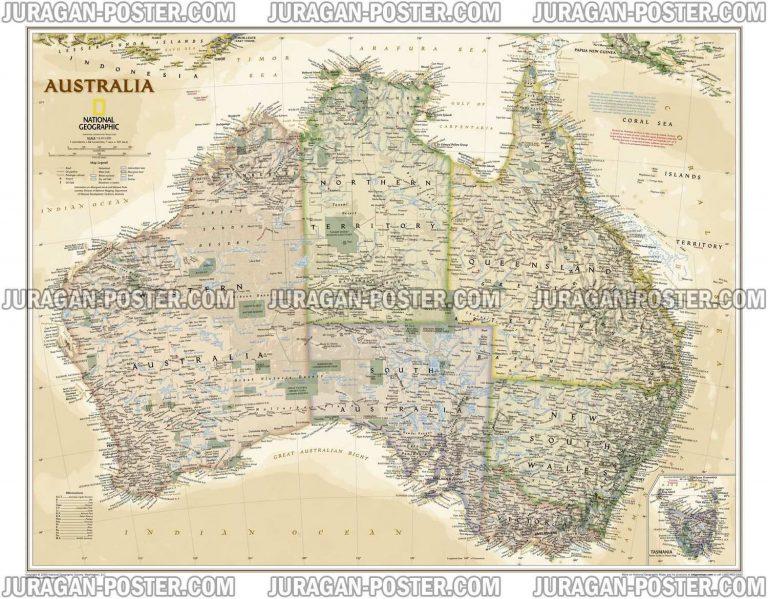 Jual Peta Negara Australia Lengkap