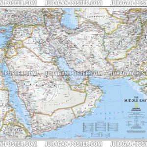 Jual Peta Negara Timur Tengah Middle East