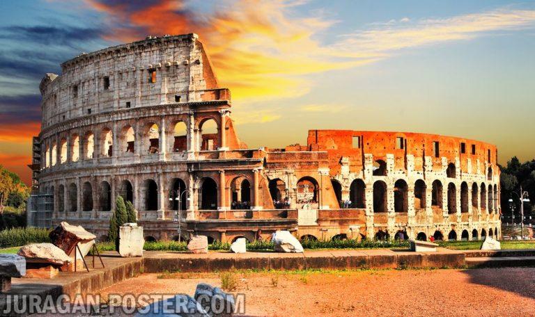Jual poster Pemandangan Kota Roma Italy