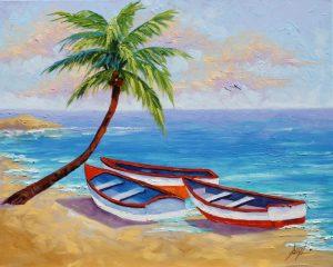 97 Koleksi menggambar pemandangan pantai yang mudah HD Terbaru