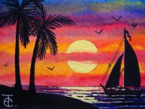 Lukisan Pemandangan Yang Mudah Ditiru Jual Poster Di Juragan Poster