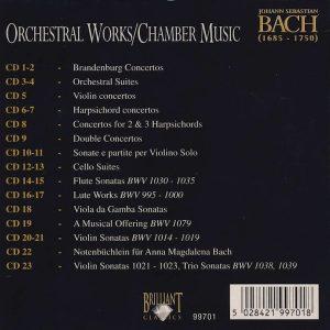 Jual Mp3 Kompilasi Musik Klasik Johann Sebastian Bach Complete Works 160 CD 11 Chamber music