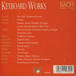 Jual Mp3 Kompilasi Musik Klasik Johann Sebastian Bach Complete Works 160 CD 9 keyboard works