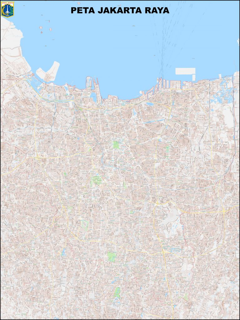 jual peta jakarta ukuran besar lengkap detail