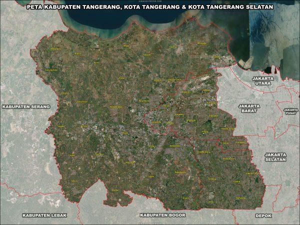 Peta Kabupaten Tangerang, Kota Tangerang Kota Tangerang Selatan ukuran 150×200