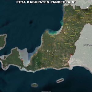 Jual Peta Kabupaten Pandeglang